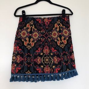 Zara tapestry miniskirt